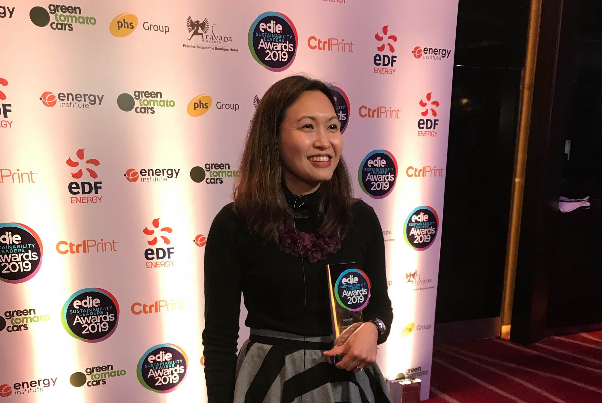 Janice Lao awarded Sustainability Leader of the Year by edie Sustainability Leader Awards 2019